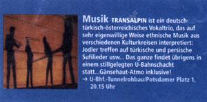 transalpin - Leittönen 1