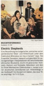 transalpin - Electric Shepherds Presse Clipping